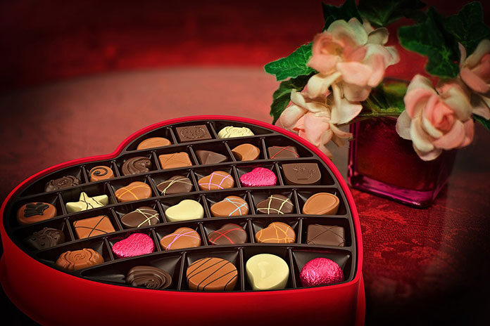 Romantyczna dekoracja walentynkowa
