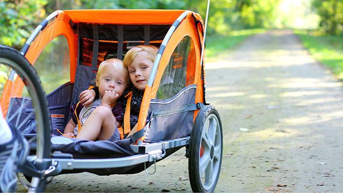 Przyczepka rowerowa dla dzieci